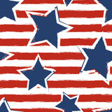 Happy 4th of July, USA Independence Day background. Vector seaml Royalty Free Stock Images