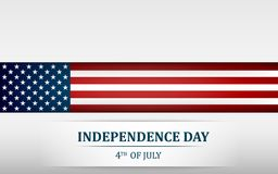 Happy 4th of July, USA Independence Day. Fourth of July greeting card template with american national flag. Vector. Happy 4th of July, USA Independence Day Stock Photography