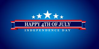 Happy 4th Of July USA Independence Day. Header Or Banner Background Royalty Free Stock Images