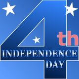 Happy 4th Of July USA Independence Day. Header Or Banner Background stock illustration