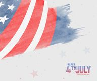 Happy 4th Of July USA Independence Day Text Space Background. Happy 4th Of July USA Independence Day royalty free illustration