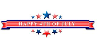 Happy 4th Of July USA Independence Day Header Or Banner Background. Happy 4th Of July USA Independence Day Header Or Banner Background Vector Illustration