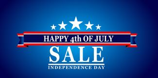 Happy 4th Of July USA Independence Day. Header Or Banner Background Royalty Free Stock Photos