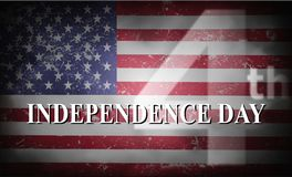 Happy 4th Of July USA Independence Day. Header Or Banner Background Royalty Free Illustration