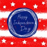 Happy 4th Of July USA Independence Day Text Space Background. Hand drawn illustration. Happy 4th Of July USA Independence Day Text Space Background vector illustration