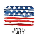 Happy 4th of July, USA Independence Day. Vector abstract grunge. Background with place for text. Watercolor design concept for greeting card, banner, flyer Royalty Free Stock Photography
