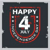 Happy 4th of July, USA Independence Day Vector Design. With modern, simple and elegant design, suitable for greeting card, banner, flyer, poster and others vector illustration