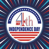 Happy 4th of July, USA Independence Day Vector Design. With modern, simple and elegant design, suitable for greeting card, banner, flyer, poster and others Stock Photo