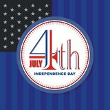Happy 4th of July, USA Independence Day Vector Design. With modern, simple and elegant design, suitable for greeting card, banner, flyer, poster and others Royalty Free Stock Photos