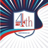 Happy 4th of July, USA Independence Day Vector Design. With modern, simple and elegant design, suitable for greeting card, banner, flyer, poster and others Stock Image