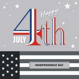 Happy 4th of July, USA Independence Day Vector Design. With modern, simple and elegant design, suitable for greeting card, banner, flyer, poster and others Stock Photography