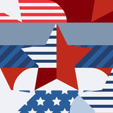 Happy 4th of July, USA Independence Day, vector seamless pattern Royalty Free Stock Photo