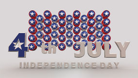 Happy 4th of July on white background Royalty Free Stock Images