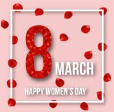 Happy 8th March Happy Women`s Day Greeting Card. Greeting card for international women`s day vector illustration