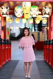 Happy Thai woman at Japanese shopping mall Stock Photography