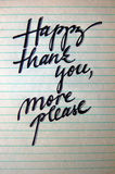 Happy Thank You More Please calligraphic background Royalty Free Stock Photography