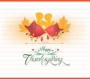 Happy thankgiving with acorns greeting card Royalty Free Stock Image