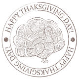 Happy thankgiving day stamp grunge royalty free illustration