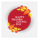 Happy thanks giving day /thank you Royalty Free Stock Image