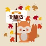 Happy thanks giving Stock Photo
