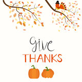 Happy Thanks giving vector. Illustration EPS10 Royalty Free Stock Images