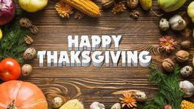 Happy Thanks Giving 002 - White Background - Colorful royalty free stock photography