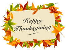 Happy Thanksgiving. A colorful and autumn inspired Happy Thanksgiving message