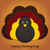 Happy Thanksgiving!. Happy Thanksgiving cute material turkey card in  format Royalty Free Stock Photography
