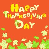 Happy Thanksgiving abstract card Royalty Free Stock Images