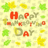 Happy Thanksgiving abstract inscription card Royalty Free Stock Photo
