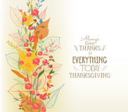 Happy Thanksgiving. Autumn background with leaves Royalty Free Stock Photo