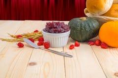 Happy Thanksgiving - Autumn fruit for Thanksgiving. royalty free stock photo