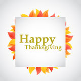 happy thanksgiving autumn leaves sign Stock Photography