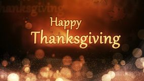 Free Happy Thanksgiving Autumn Lights With Particles Royalty Free Stock Photo - 60805445