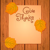 Happy Thanksgiving Background. Royalty Free Stock Photos