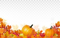 Happy Thanksgiving Background with colorful leaves royalty free illustration
