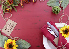 Happy Thanksgiving background with decorated borders. Royalty Free Stock Photos