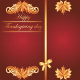 Happy Thanksgiving background with maple leaf Royalty Free Stock Photos