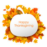 Happy Thanksgiving background with maple leaves Stock Images
