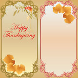 Happy Thanksgiving background with vine leaf Royalty Free Stock Photo