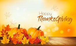 Happy Thanksgiving Background With Autumn Vegetables Royalty Free Stock Photo