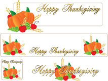 Happy thanksgiving banner. Four different happy Thanksgiving banner Royalty Free Stock Photos