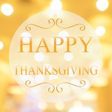 Happy Thanksgiving banner, Autumn blur background.  Royalty Free Stock Photography