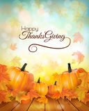 Happy Thanksgiving banner with autumn vegetables. Vector Royalty Free Stock Image
