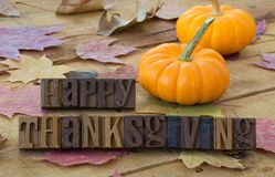 Happy Thanksgiving Banner stock images
