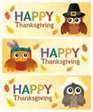 Happy Thanksgiving banners 2 Royalty Free Stock Photos