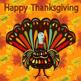 Happy Thanksgiving Beautiful colorful ethnic turkey bird autumn Stock Photo