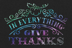 Happy Thanksgiving. On black background Royalty Free Stock Photography