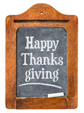 Happy Thanksgiving on blackboard Royalty Free Stock Photos