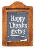Happy Thanksgiving on blackboard Royalty Free Stock Photos